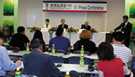 Press conference for foreign press at Twin Messe on October the 5th